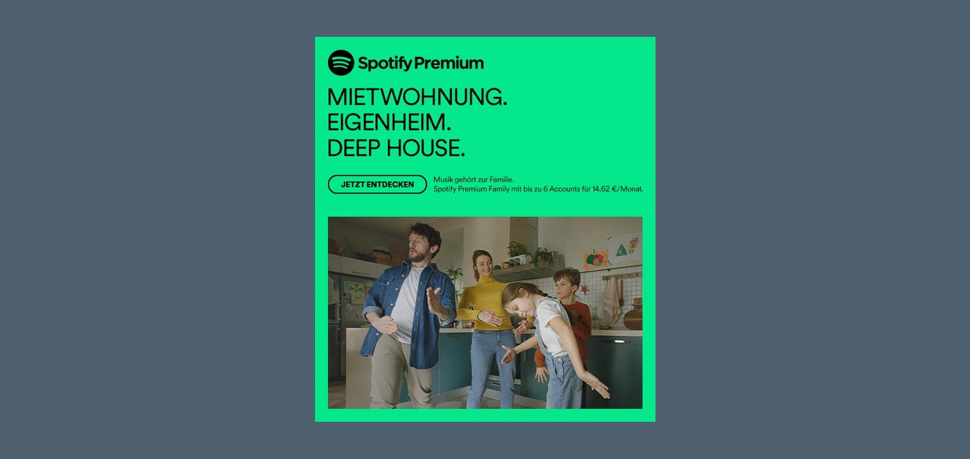 Neue Marketing-Kampagne für Spotify Premium Family