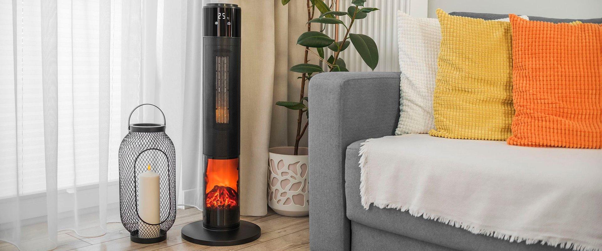 Termowentylator z funkcją imitacji kominka - ciepło i nastrojowy klimat od marki Teesa