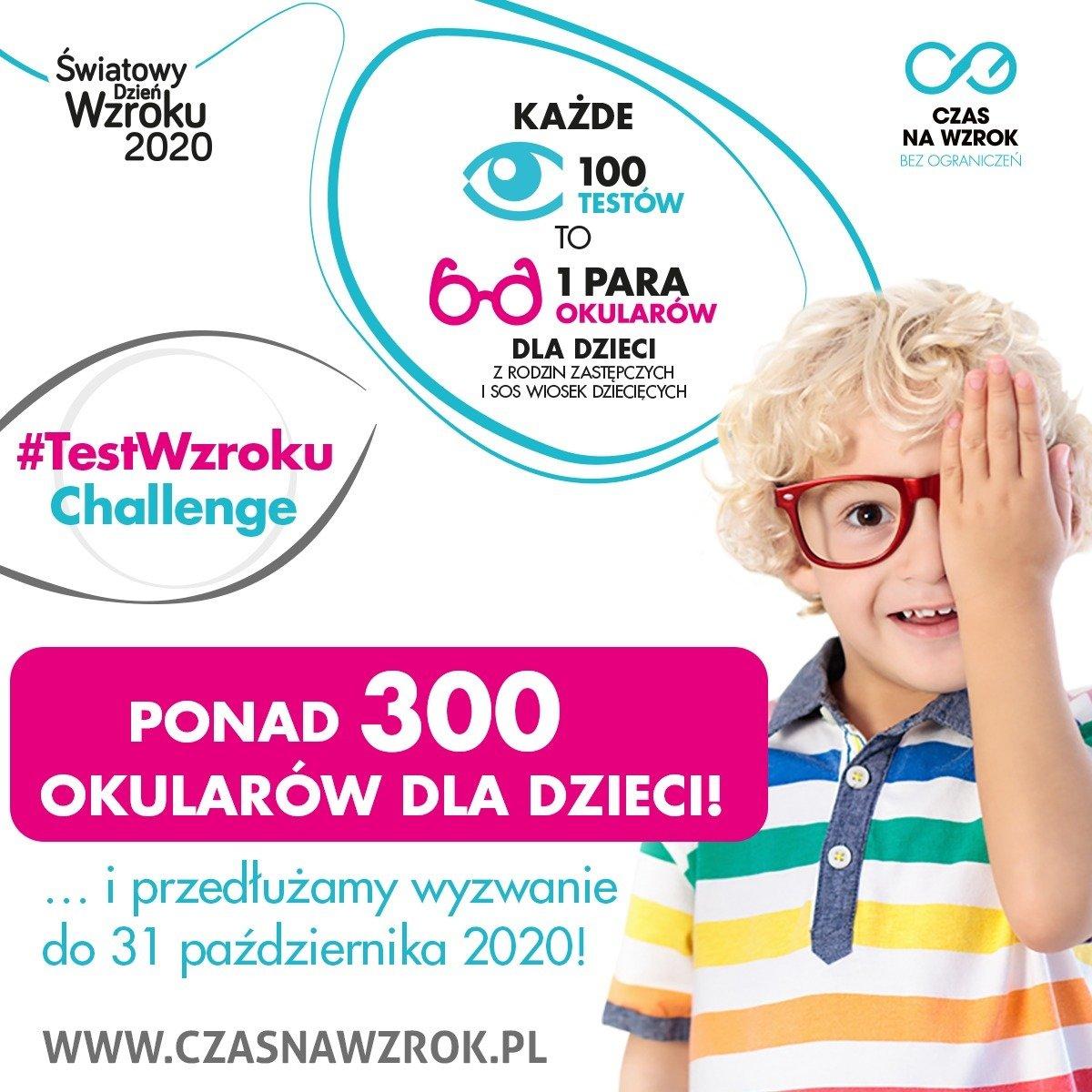 Ponad 30 000 Polaków przetestowało swój wzrok – 300 par okularów trafi do dzieci z SOS Wiosek Dziecięcych i rodzin zastępczych. A to jeszcze nie koniec!