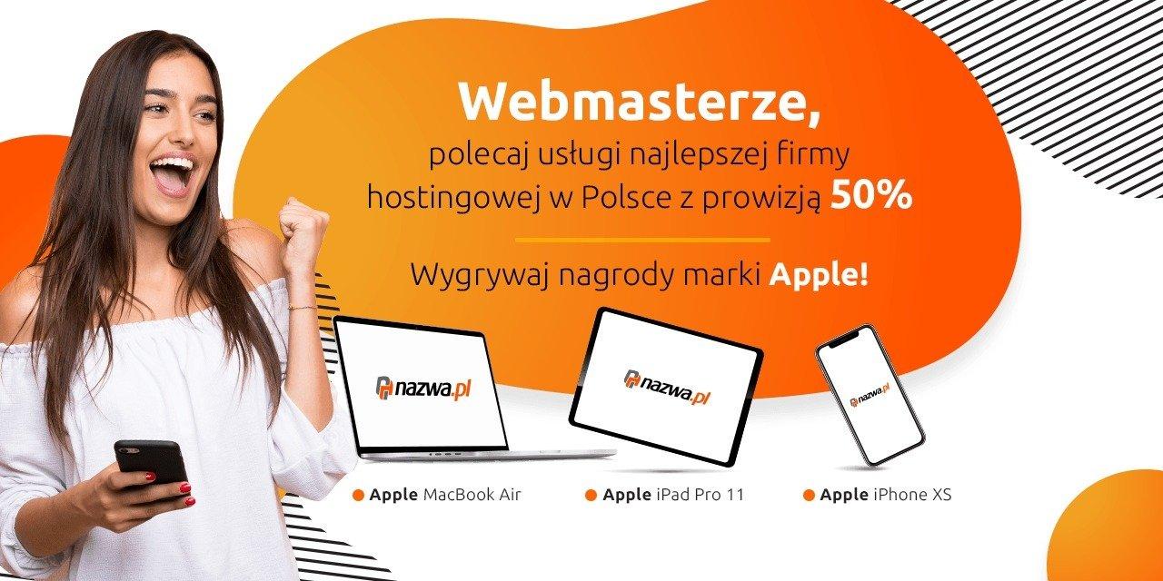 Webmasterze, wygraj Apple MacBook Air polecając usługi nazwa.pl!