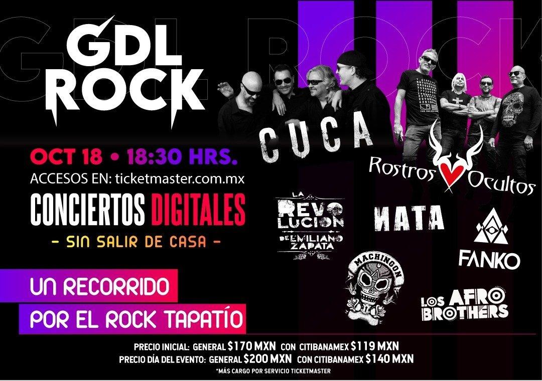 Invitación Conferencia de Prensa Virtual Rock GDL