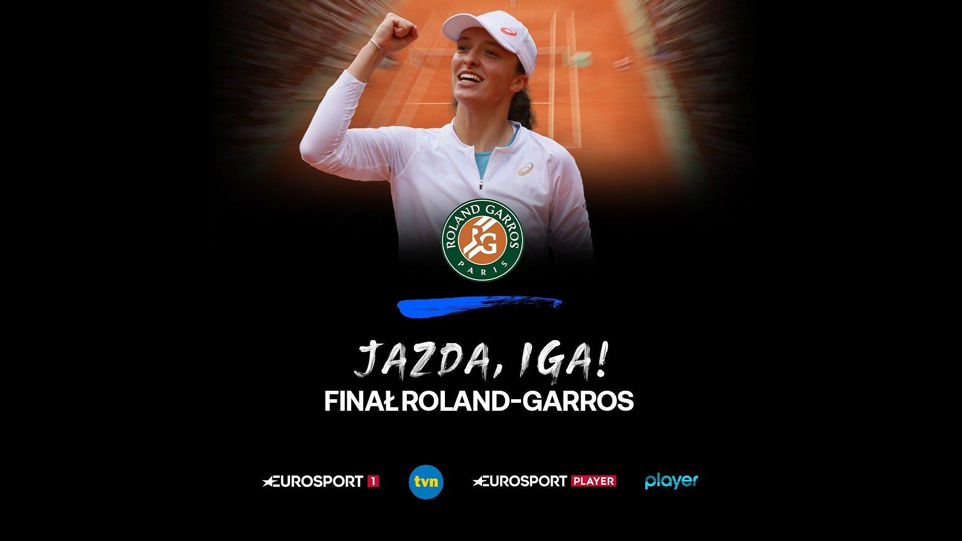 Finał Roland-Garros z udziałem Igi Świątek w sobotę na żywo w kanałach Eurosport 1 i TVN oraz serwisach Eurosport Player i player.pl