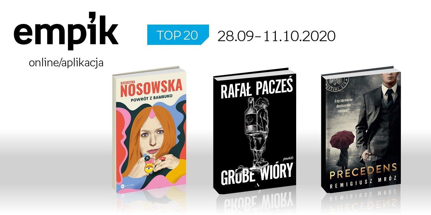 Książkowa lista TOP 20 na Empik.com za okres 28 września - 11 października