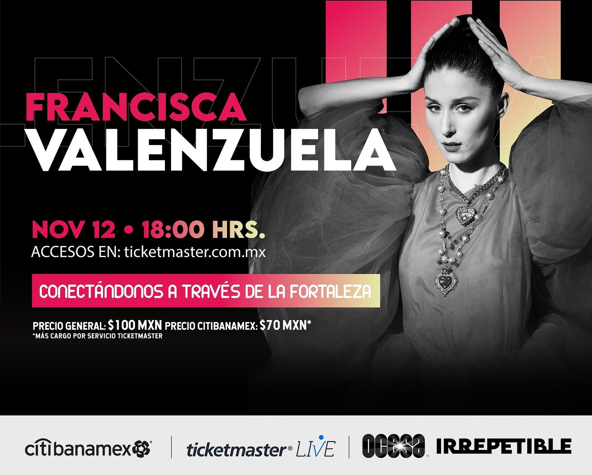 Francisca Valenzuela en IRREPETIBLE