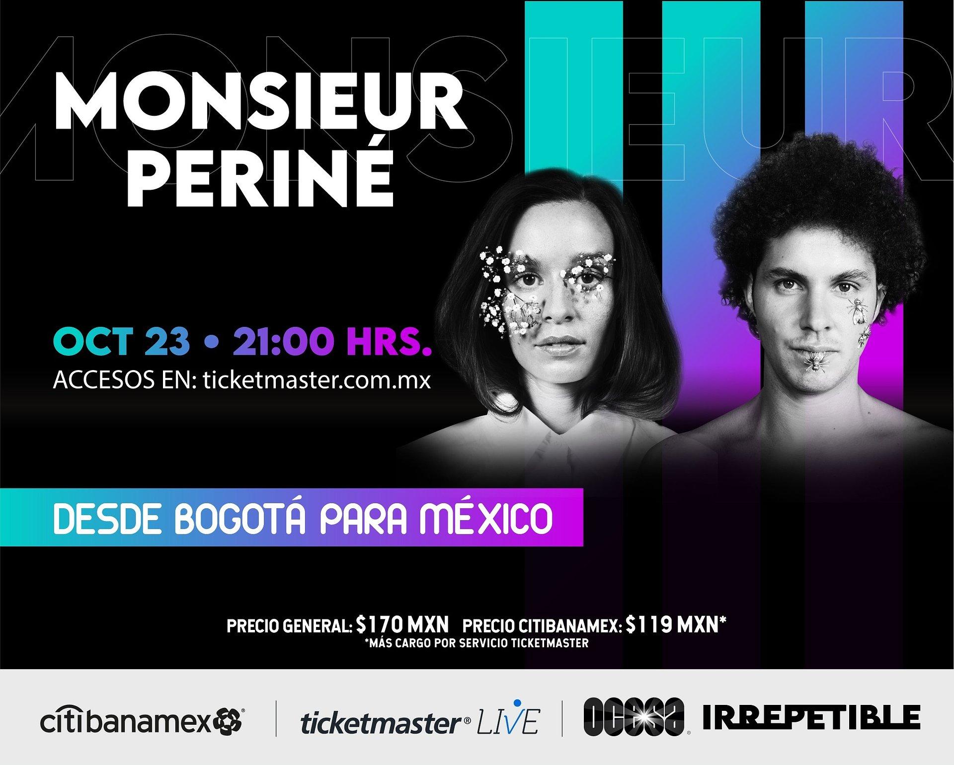 ¡Desde Bogotá para México! Monsieur Periné ofrecerá un show IRREPETIBLE
