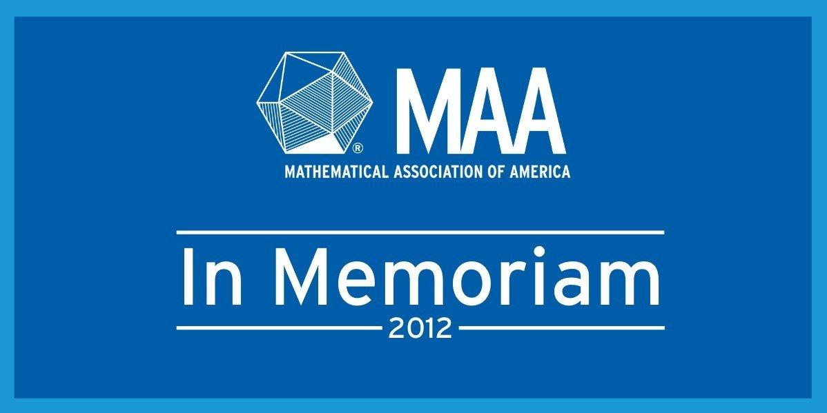 In Memoriam: 2012