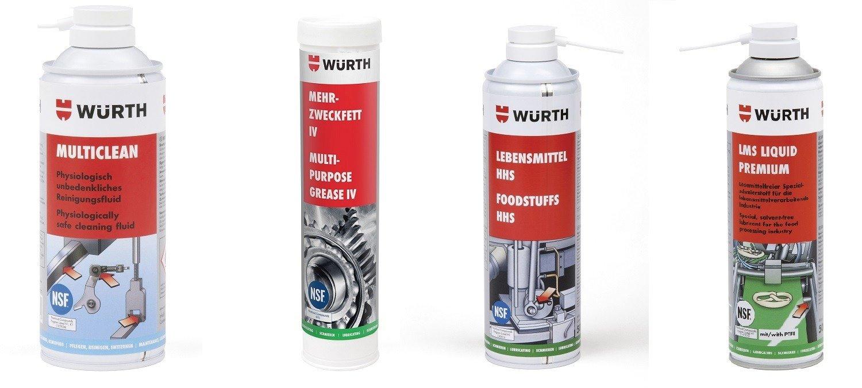 Konserwacja powierzchni i maszyn produkcyjnych w przemyśle spożywczym. Würth Polska prezentuje ofertę chemii technicznej zgodnej ze standardami NSF