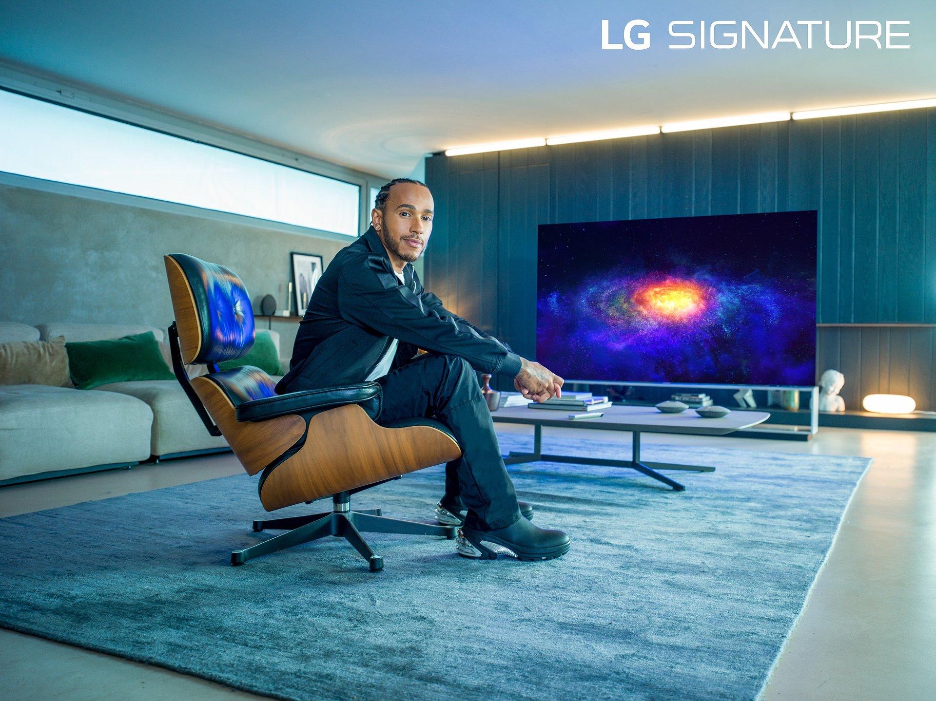 Sześciokrotny mistrz świata Formuły 1 – Lewis Hamilton – Ambasadorem marki LG SIGNATURE