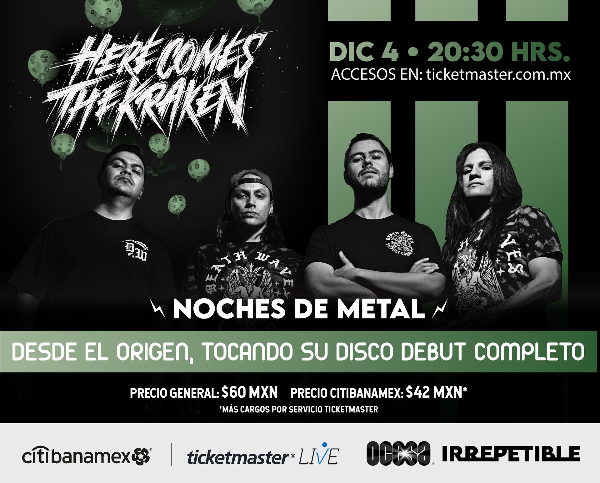 Invitación Conferencia de Prensa Virtual Noches de Metal: Here Comes The Kraken