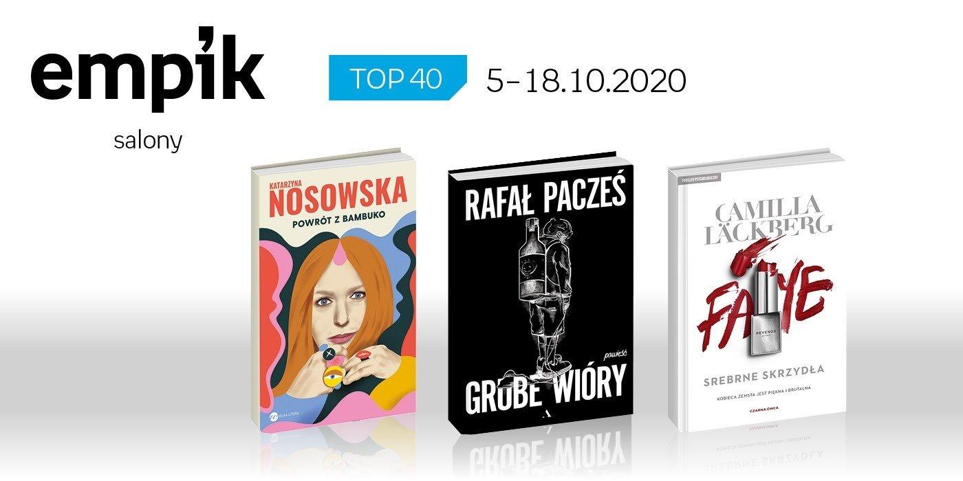Książkowa lista TOP 40 w salonach Empik za okres 5-18 października