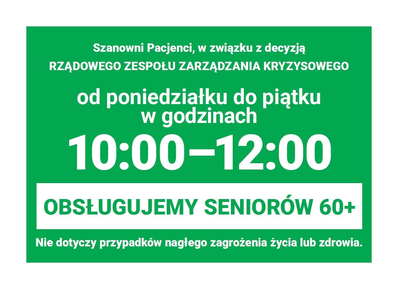 Godziny dla seniorów - plakat do pobrania