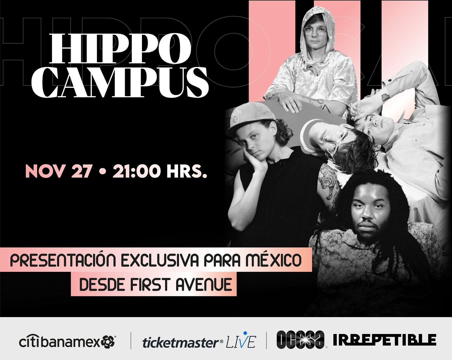 Hippo Campus en concierto IRREPETIBLE