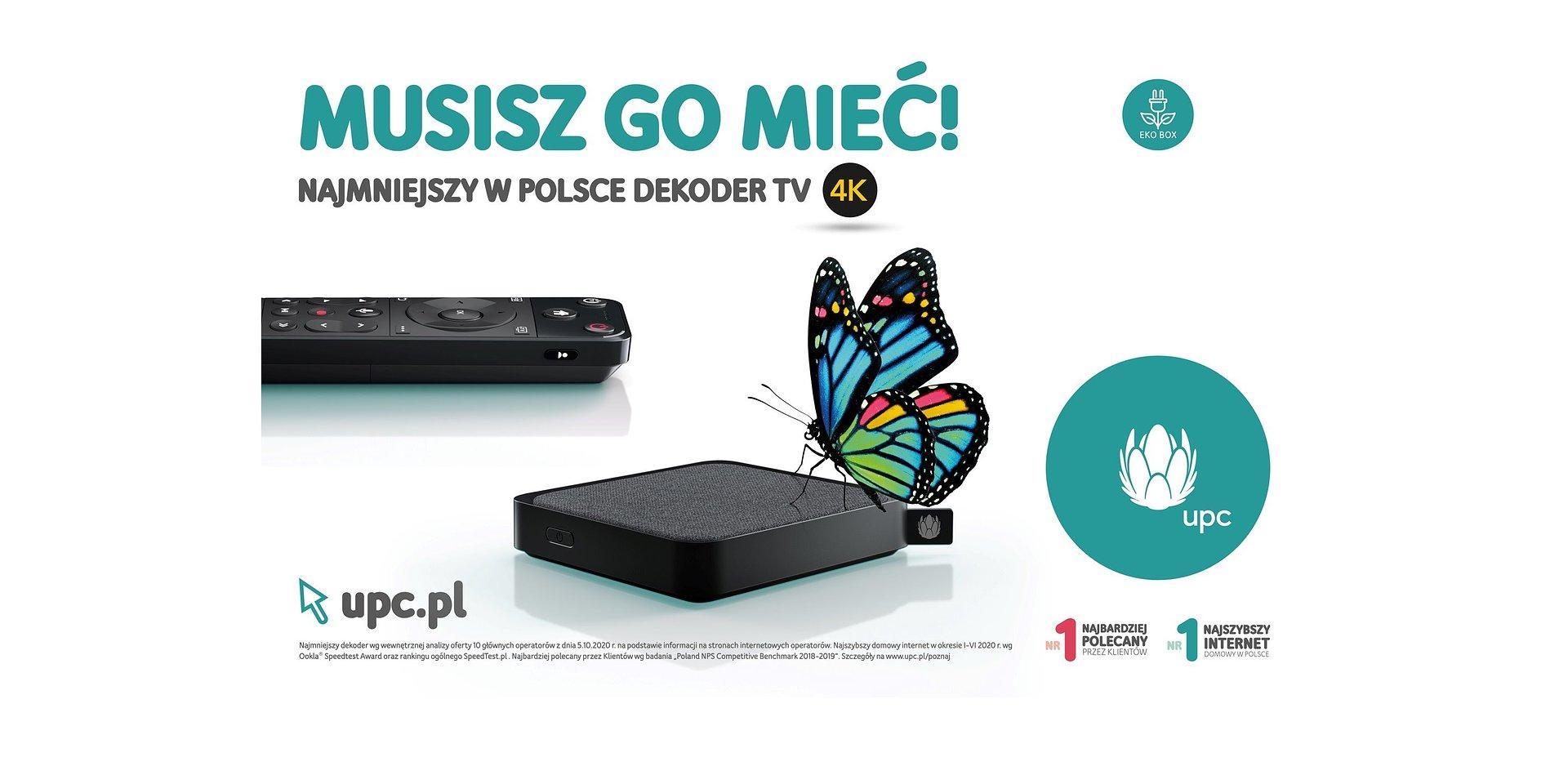 UPC promuje swój najnowszy dekoder UPC TV 4K BOX w nowej kampanii reklamowej