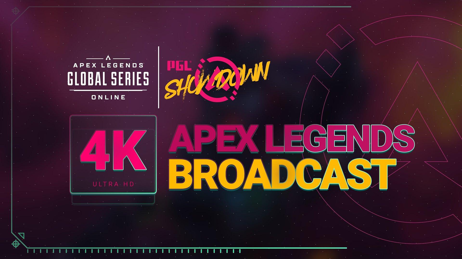 PGL APEX LEGENDS SHOWDOWN: world's first 4K Apex Legends broadcast, innovative AR, and in-depth stats
