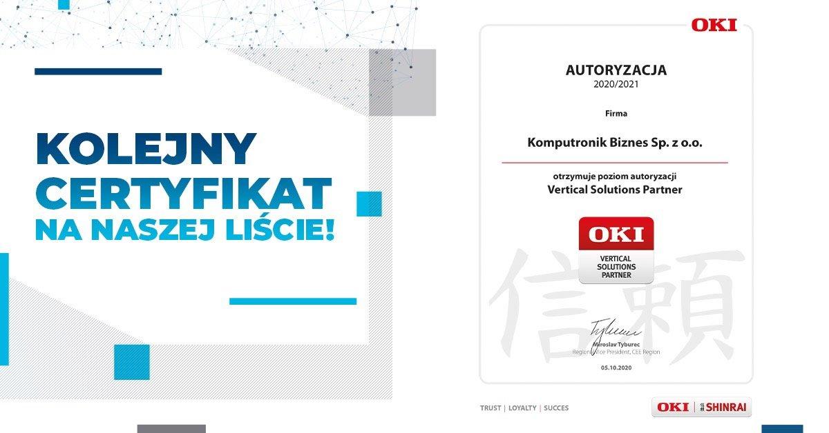 Komputronik Biznes autoryzowanym partnerem OKI