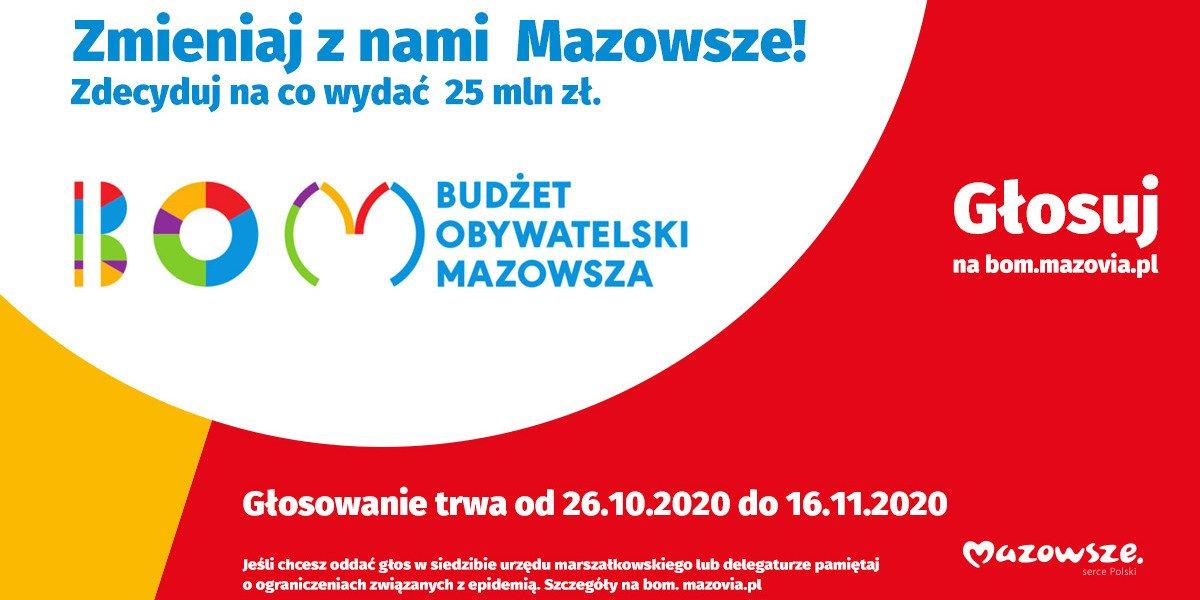 Ruszyło głosowanie w Budżecie Obywatelskim Mazowsza
