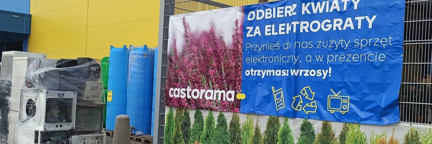 """600 ton elektrośmieci zebranych w ramach akcji """"Kwiaty za elektrograty"""", organizowanej w całej Polsce przez Castoramę"""