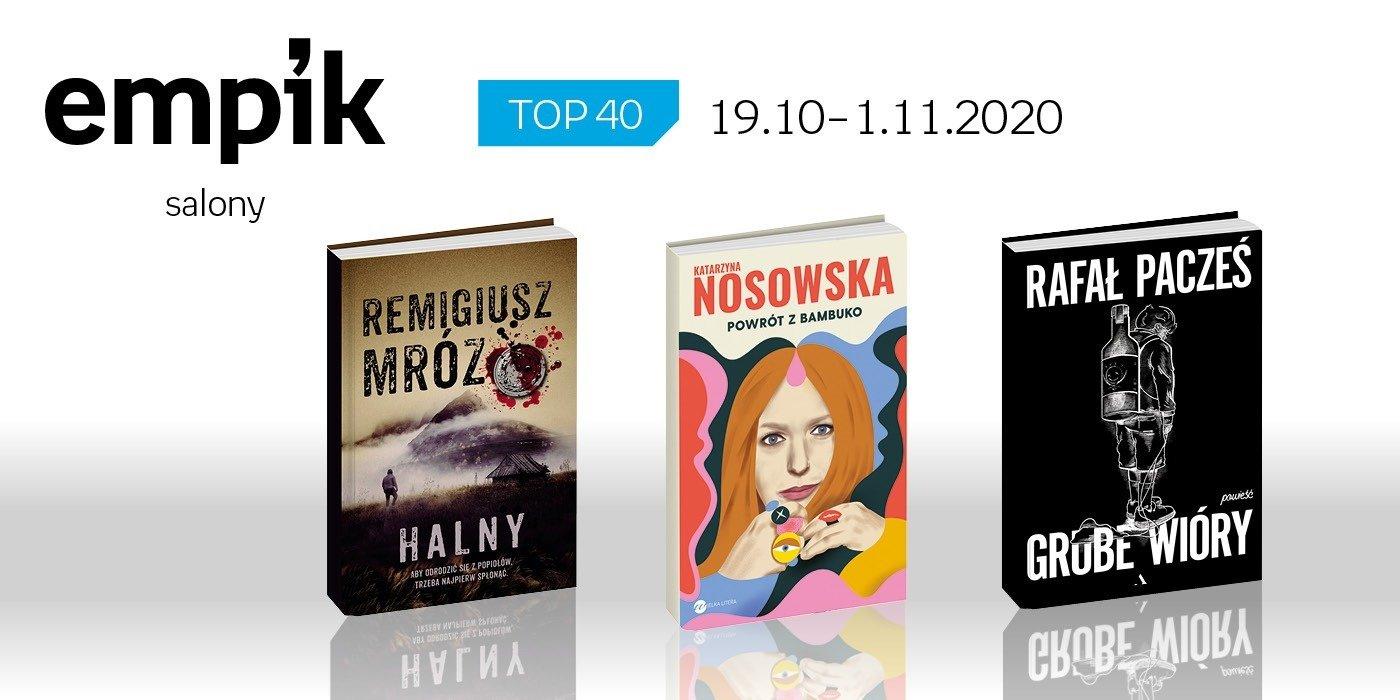Książkowa lista TOP 40 w salonach Empik za okres 19 października - 1 listopada