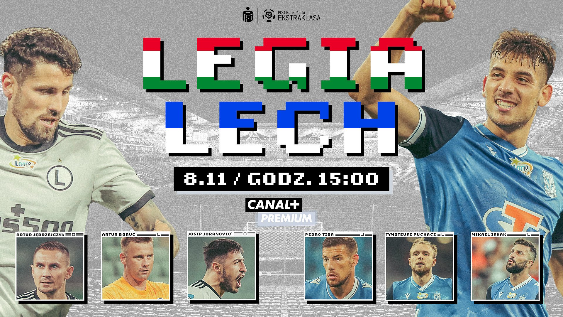 Ligowy klasyk Legia – Lech w niedzielę w CANAL+