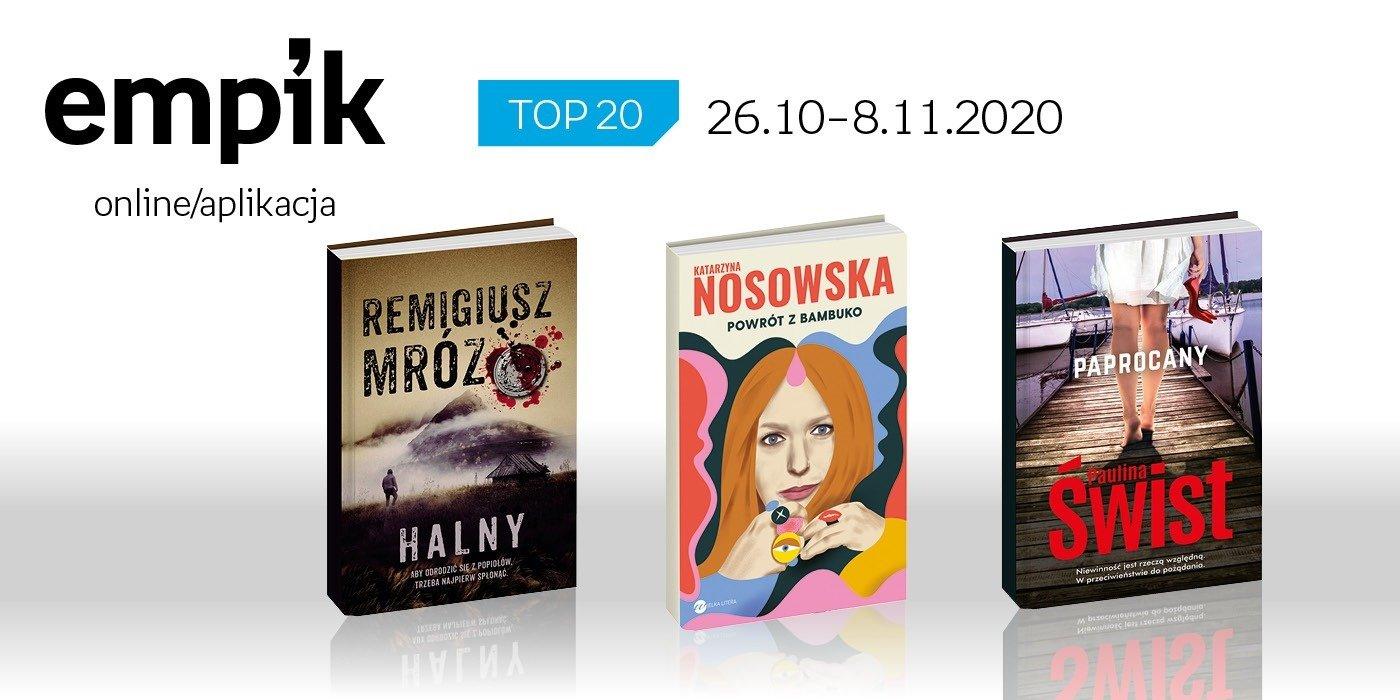 Książkowa lista TOP 20 na Empik.com za okres 26 października-8 listopada