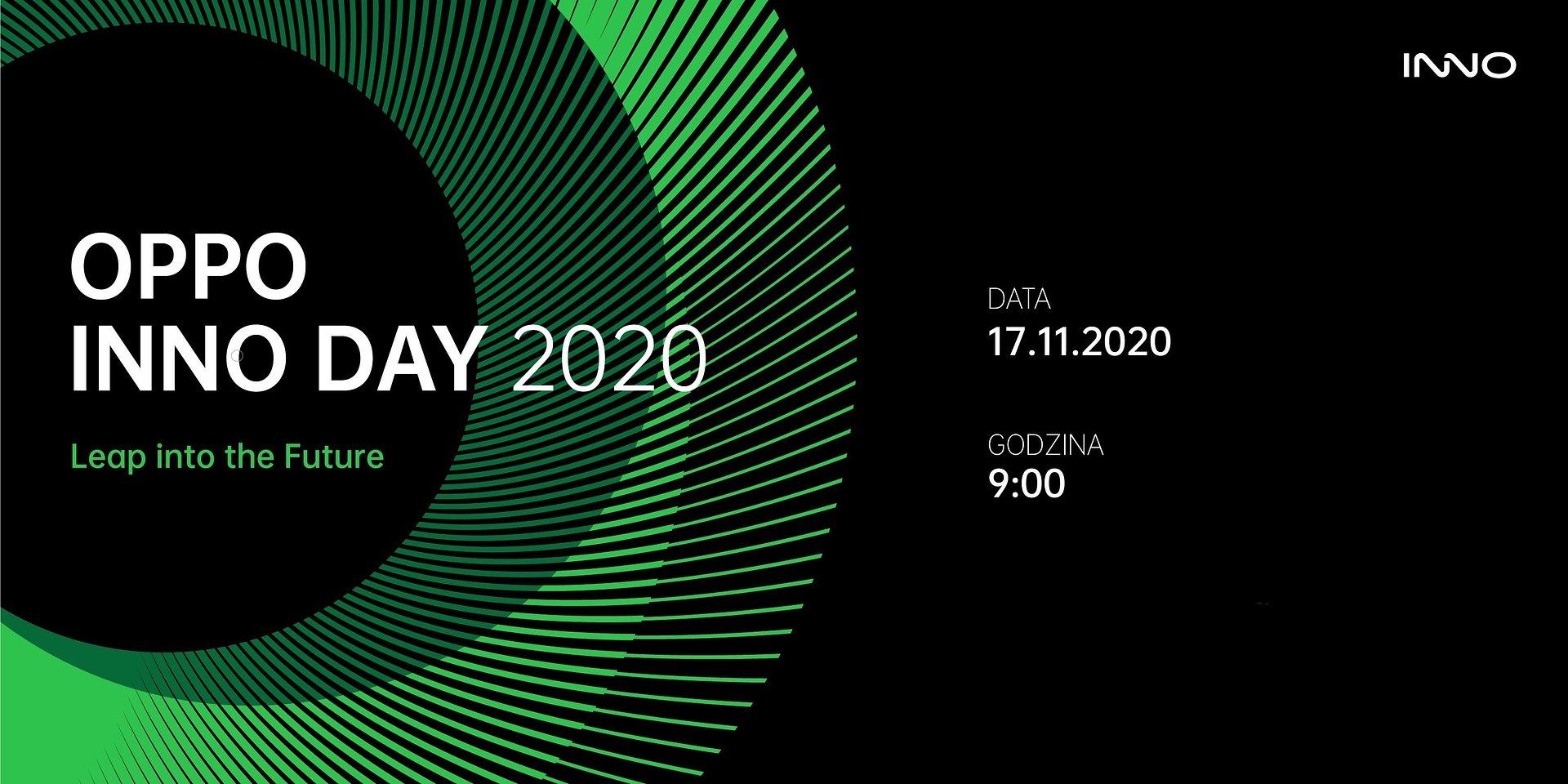 17 Listopada 2020 odbędzie się OPPO INNO DAY 2020, podczas którego zostaną zaprezentowane trzy innowacyjne koncepty produktowe