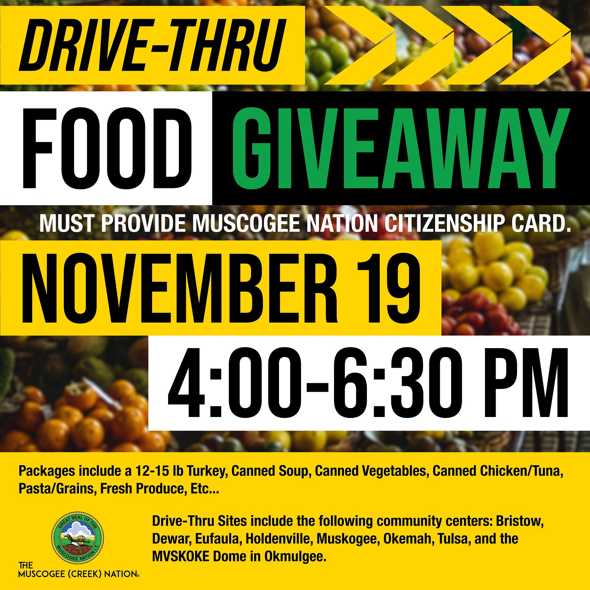 Muscogee (Creek) Nation to aid families during Thanksgiving Holiday
