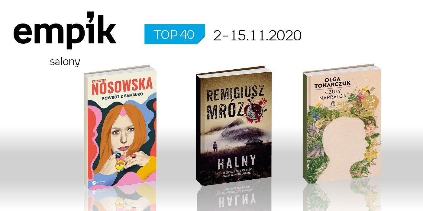Książkowa lista TOP 40 w salonach Empik za okres 2-15 listopada