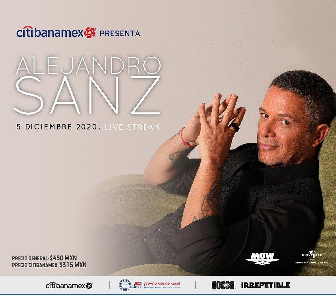 Alejandro Sanz Ofrecerá El Próximo 5 De Diciembre Un Concierto Exclusivo En Directo Via Streaming Para