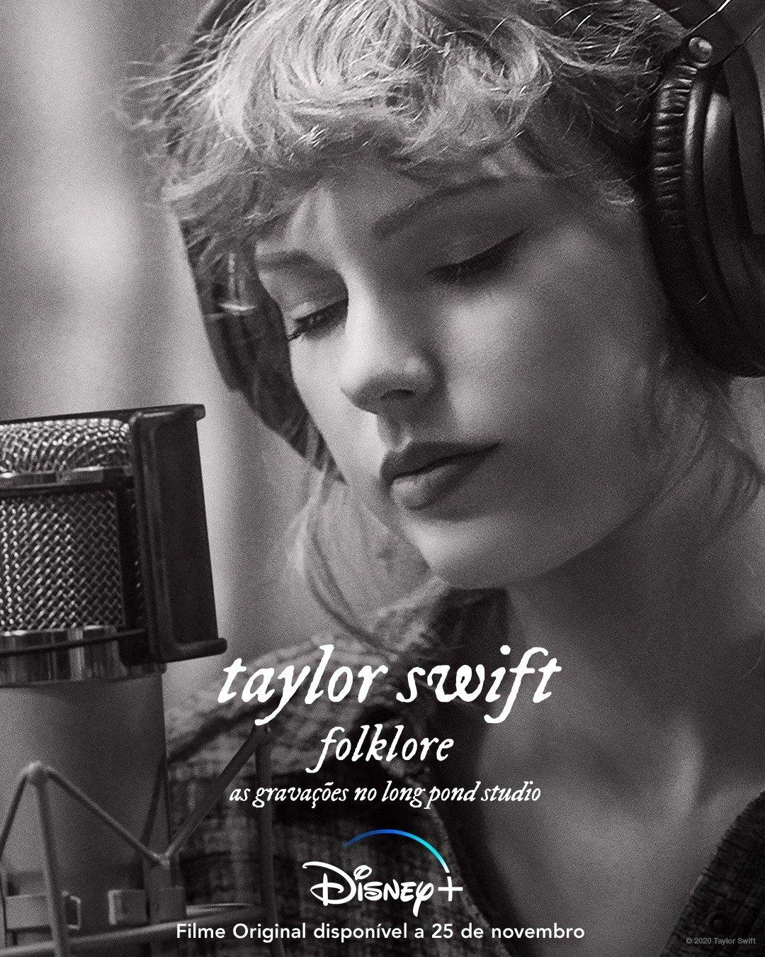 """""""folklore: as gravações no long pond studio"""" de Taylor Swift, em estreia exclusiva no Disney+ a 25 de novembro"""