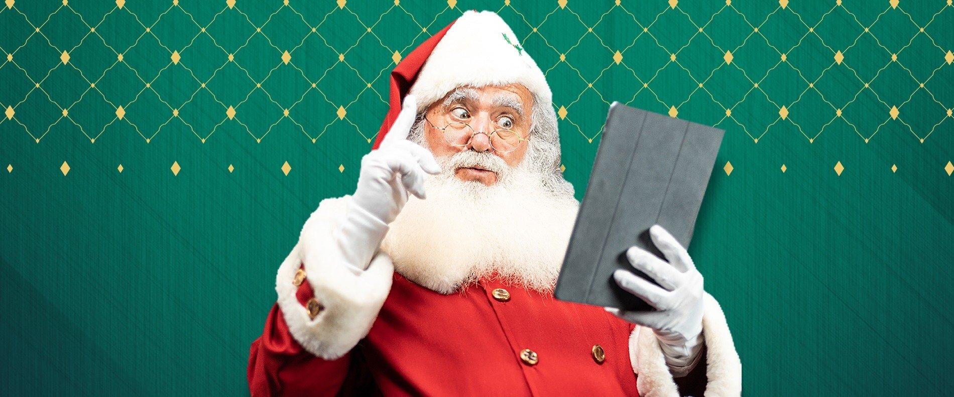 Este ano, o Pai Natal dos Centros Sonae Sierra está em Teletrabalho