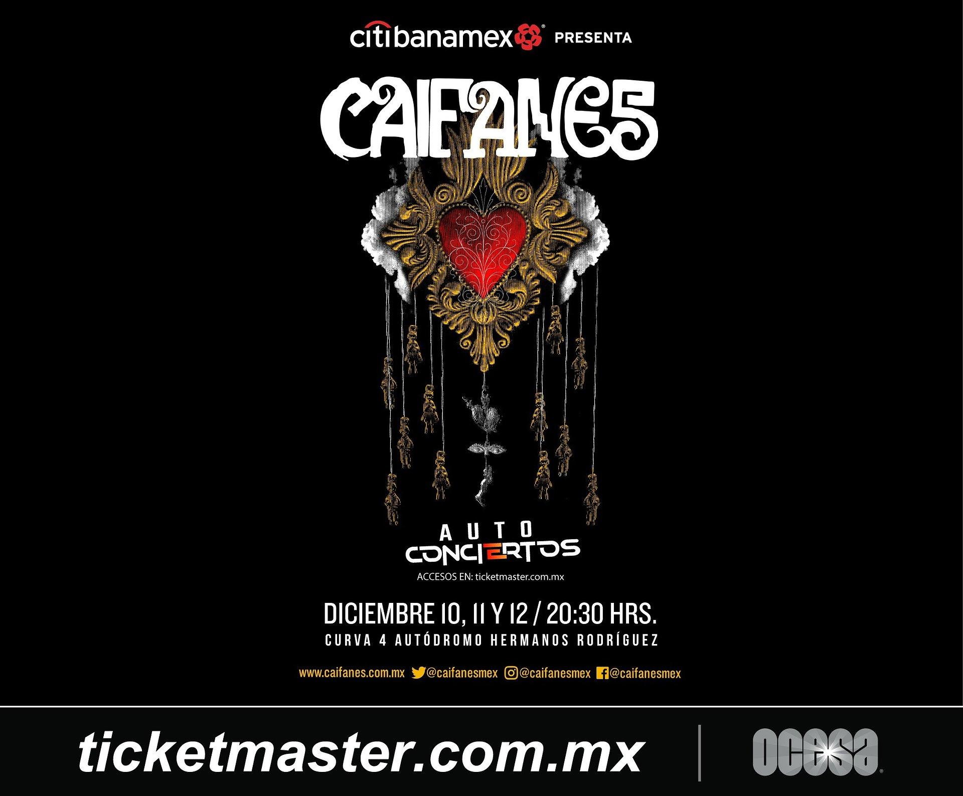 Caifanes ofrecerá tres autoconciertos en la Ciudad de México