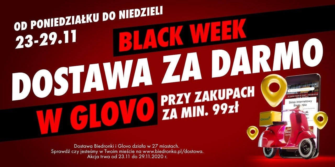 Black Week w Biedronce. Tydzień darmowych dostaw zakupów przez Glovo
