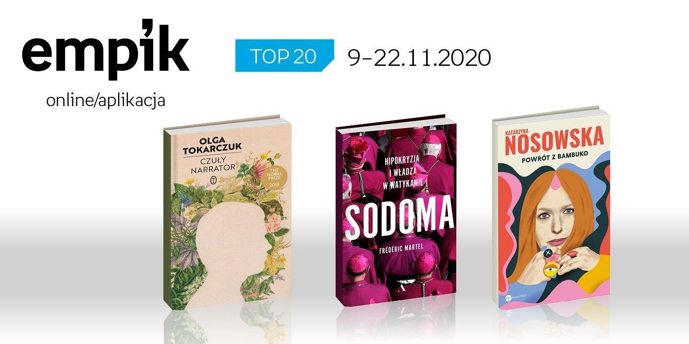 Książkowa lista TOP 20 na Empik.com za okres 9-22 listopada