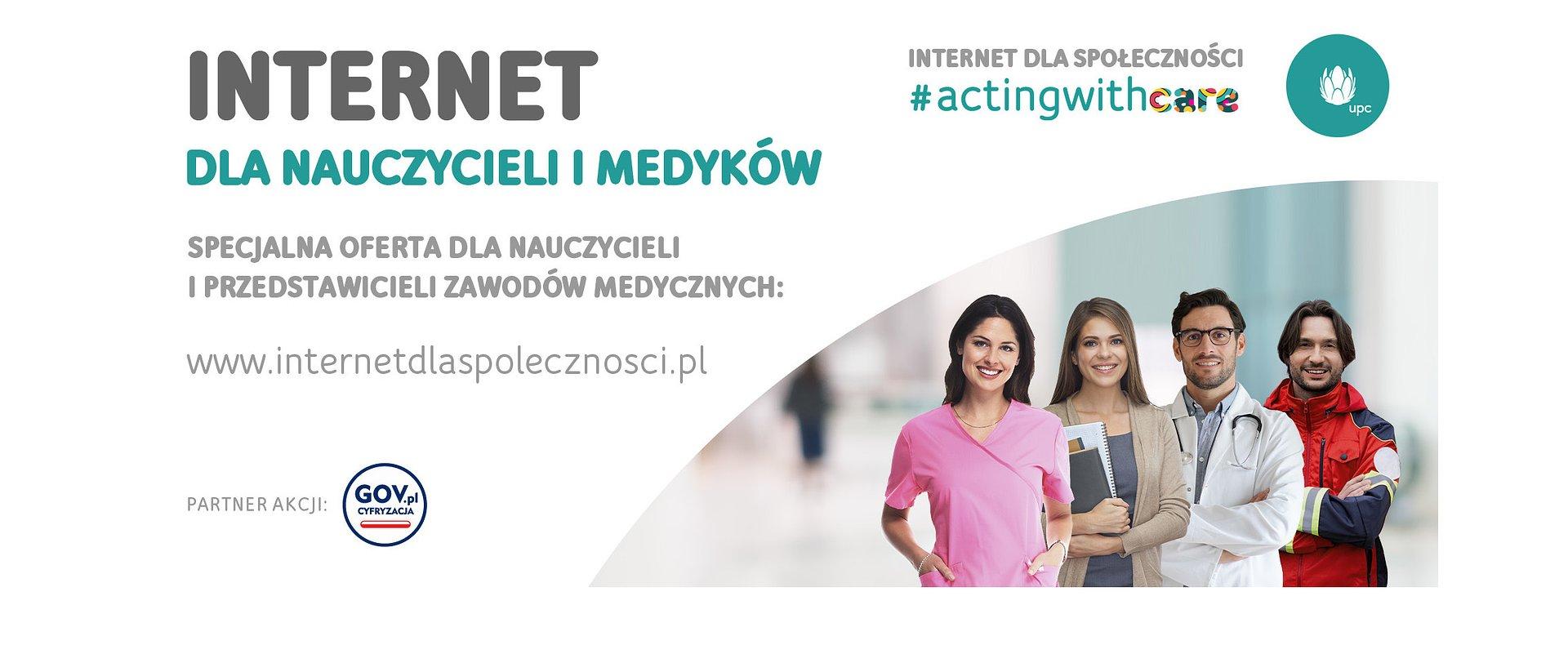 UPC Polska wspiera darmowym internetem nauczycieli i medyków w czasie pandemii