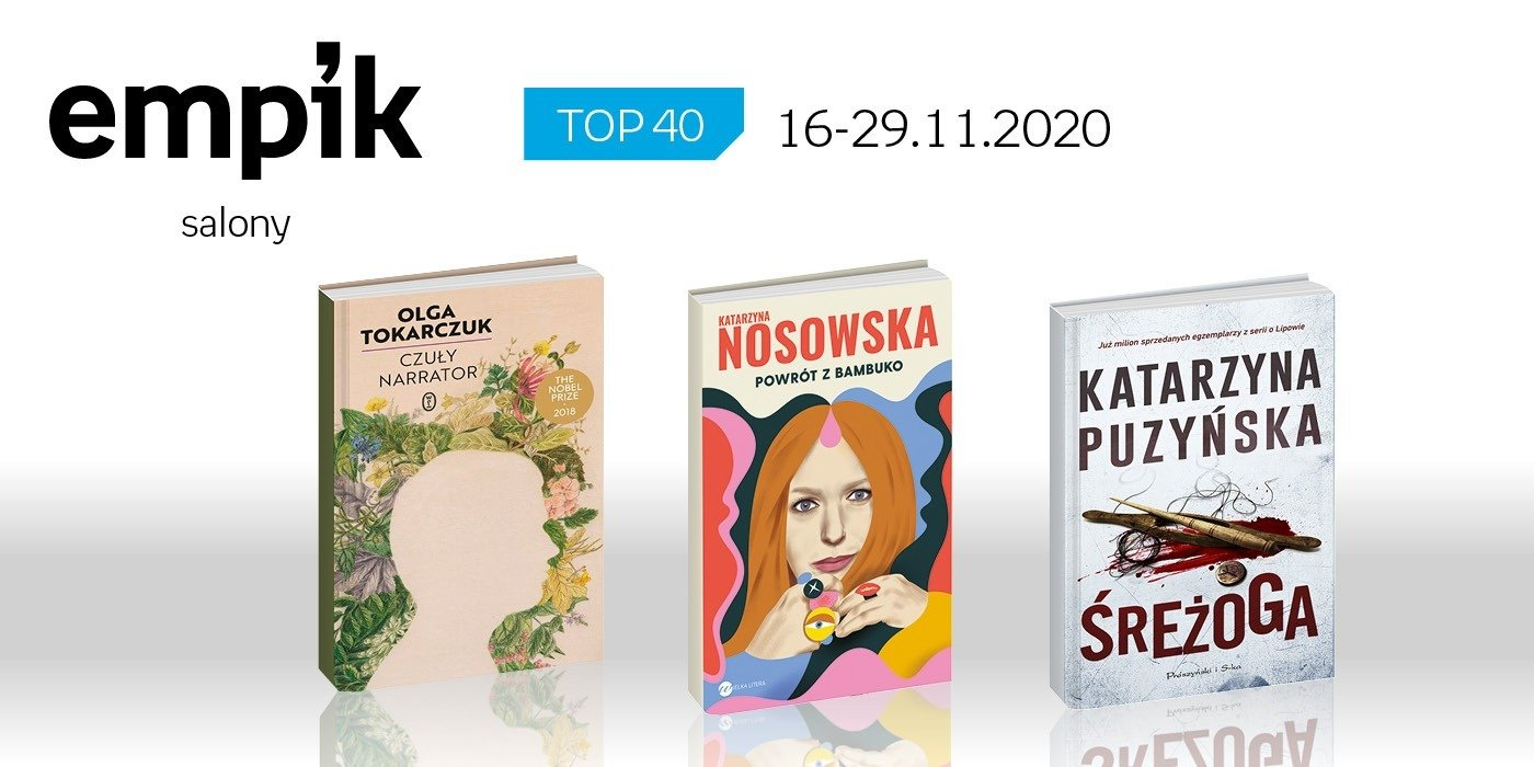 Książkowa lista TOP 40 w salonach Empik za okres 16-29 listopada
