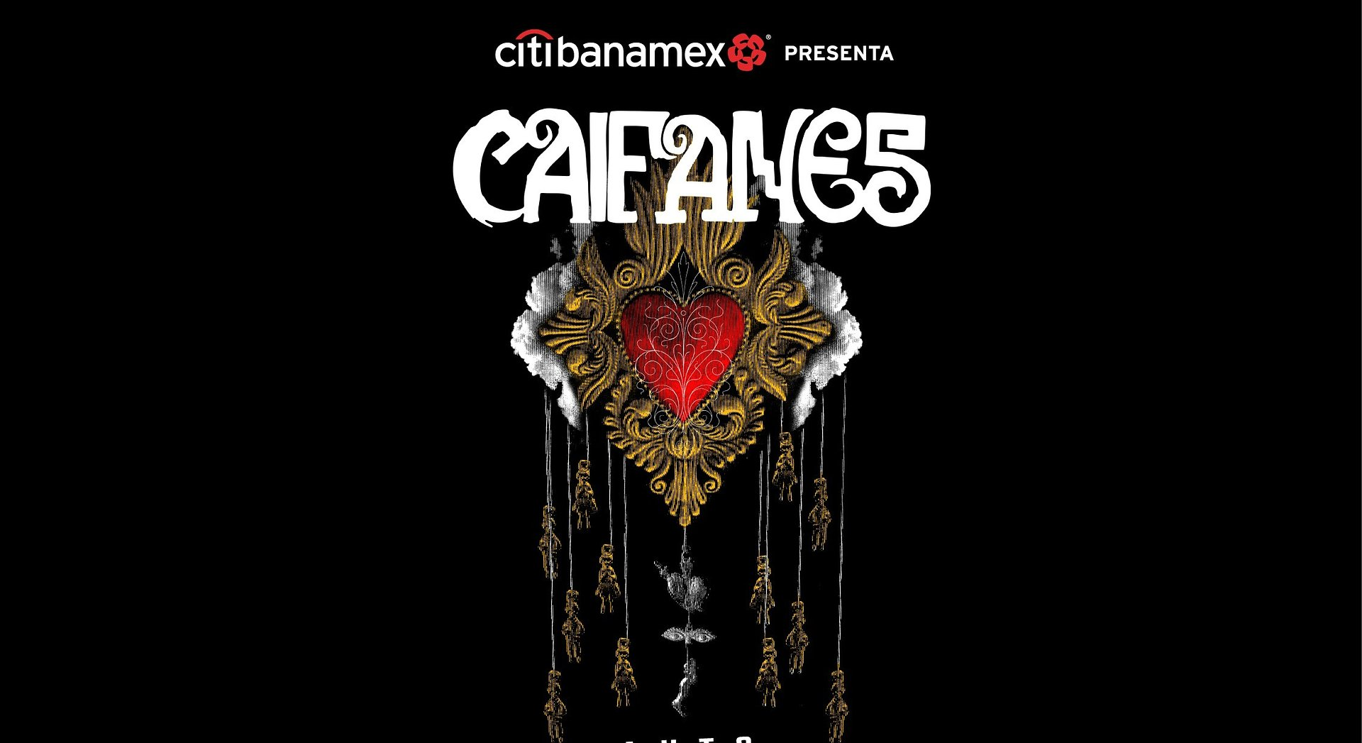 Por disposición oficial OCESA anuncia la reprogramación de los auto-conciertos de Caifanes, presentados por Citibanamex, en la Ciudad de México