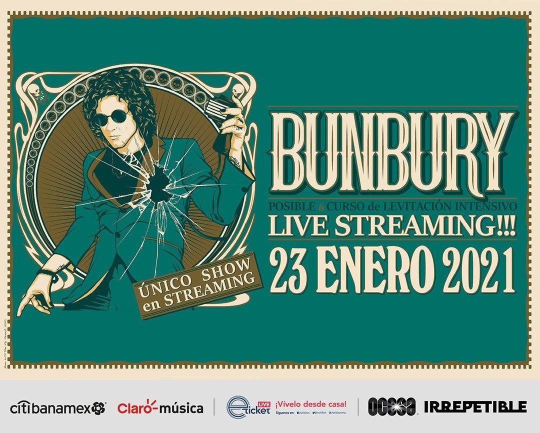 Enrique Bunbury dará un concierto digital para todos sus fans