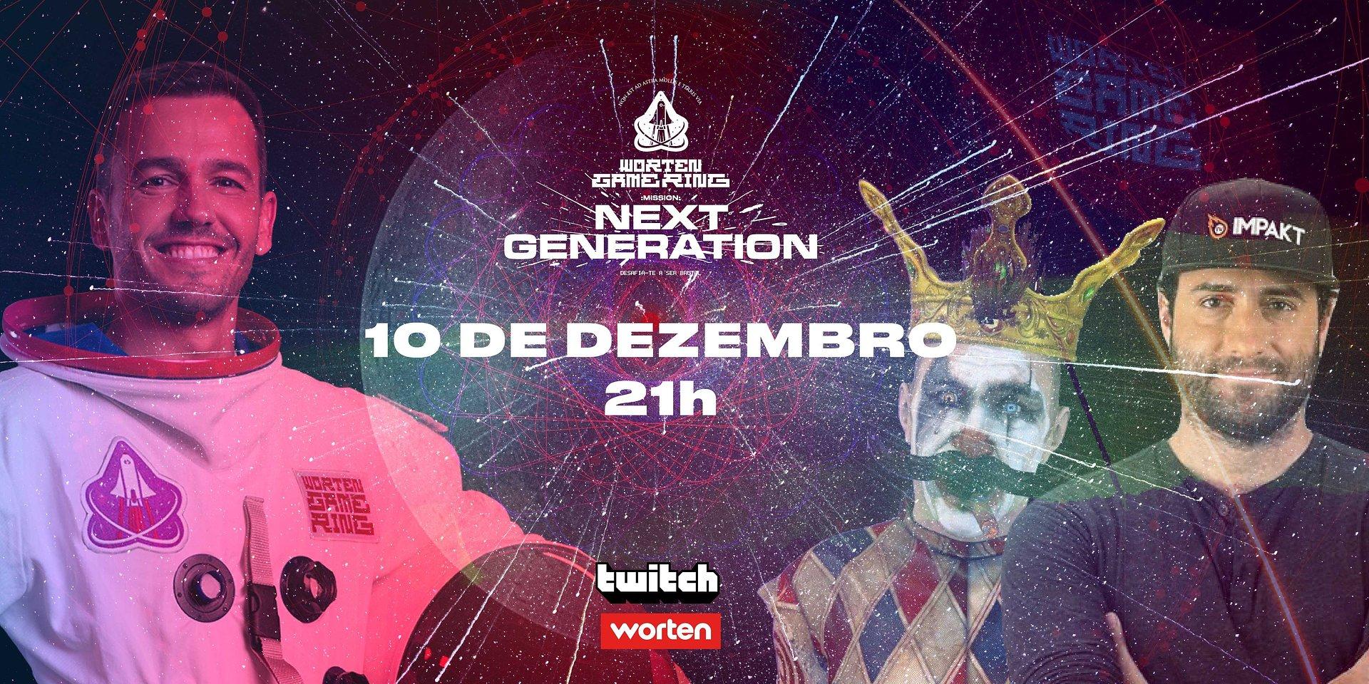 """""""WORTEN GAME RING MISSION: NEXT GENERATION"""" APRESENTA VENCEDOR DE GRANDE PRÉMIO COM EMISSÃO ESPECIAL NA TWITCH"""