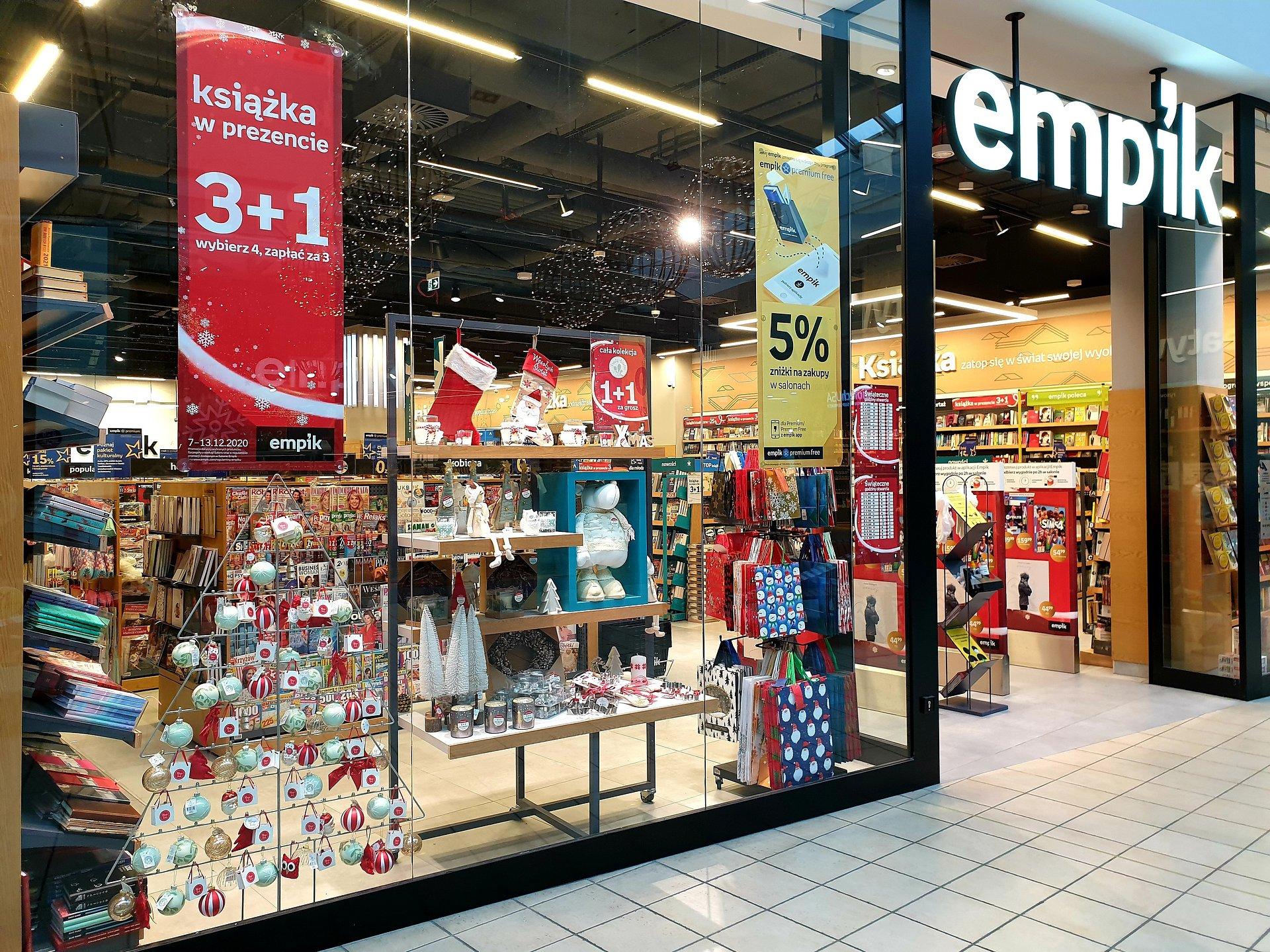 Salony Empik czynne dłużej przed Świętami