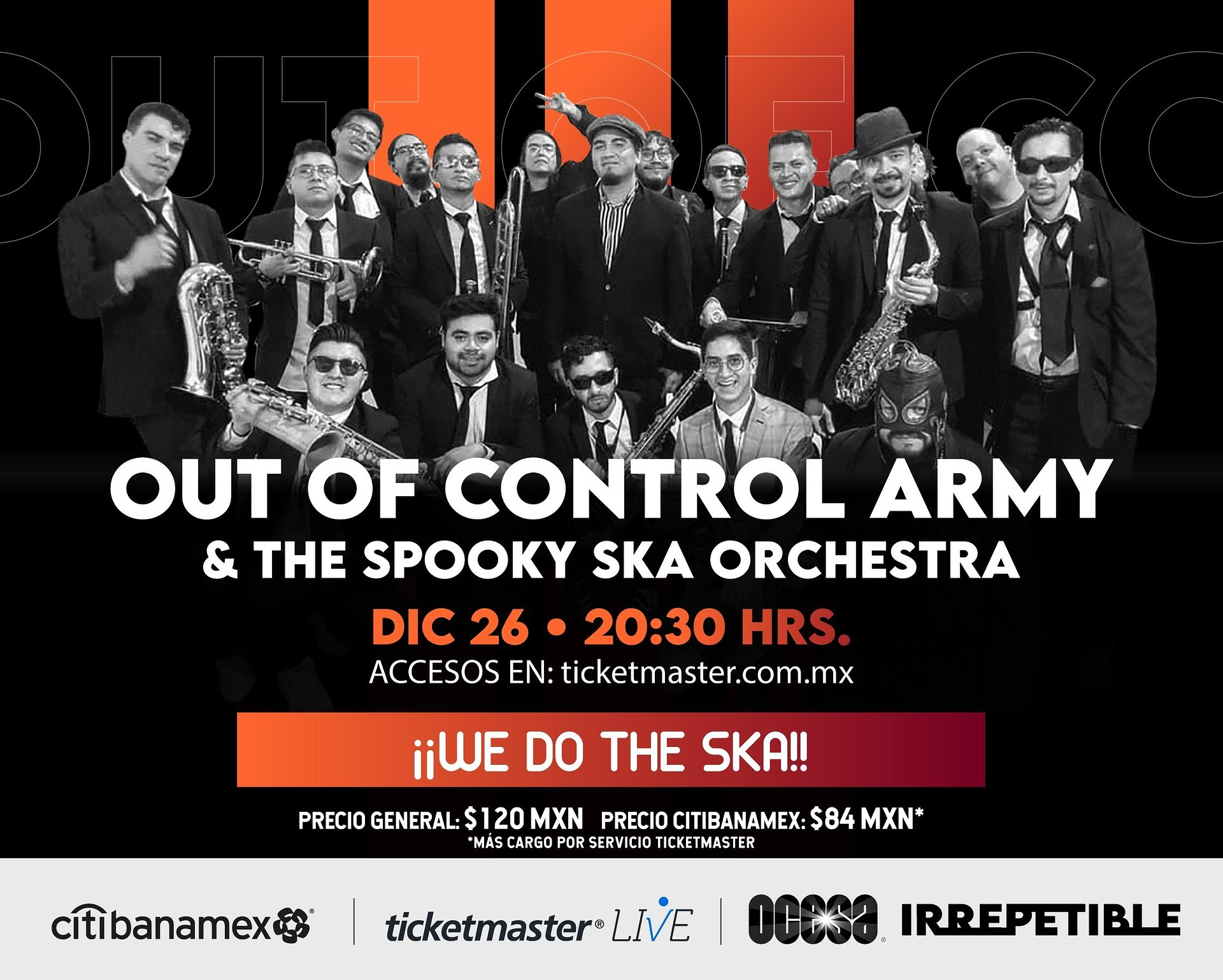 Out Of Control Army & The Spooky Ska Orchestra darán un show IRREPETIBLE