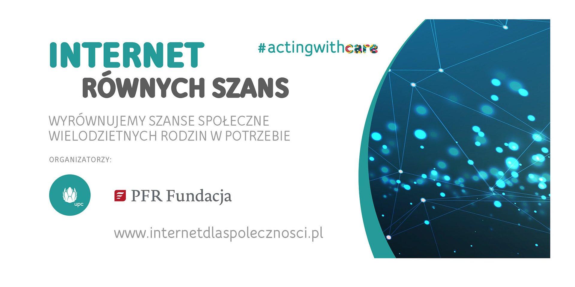 UPC Polska i Fundacja PFR uruchamiają inicjatywę Internet Równych Szans