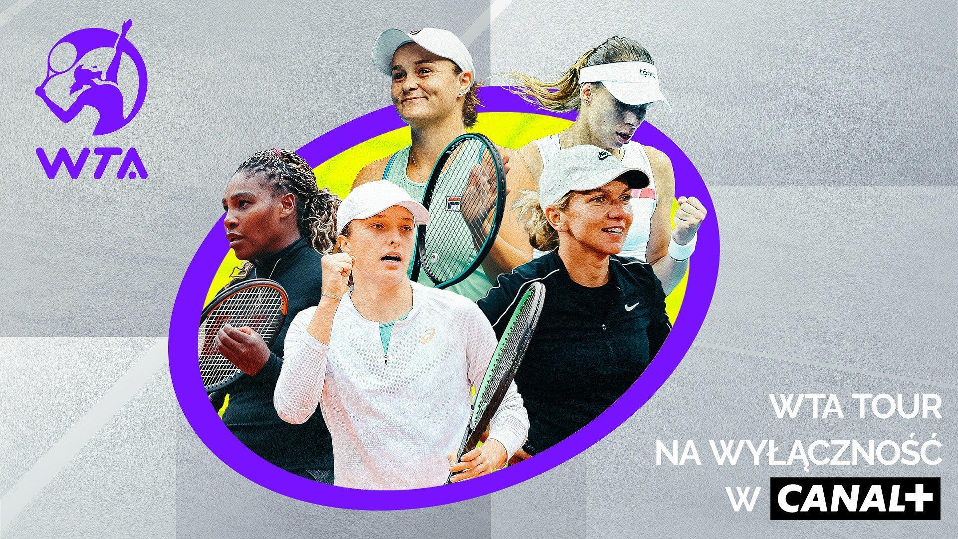 Turnieje WTA Tour i mecze Igi Świątek w CANAL+