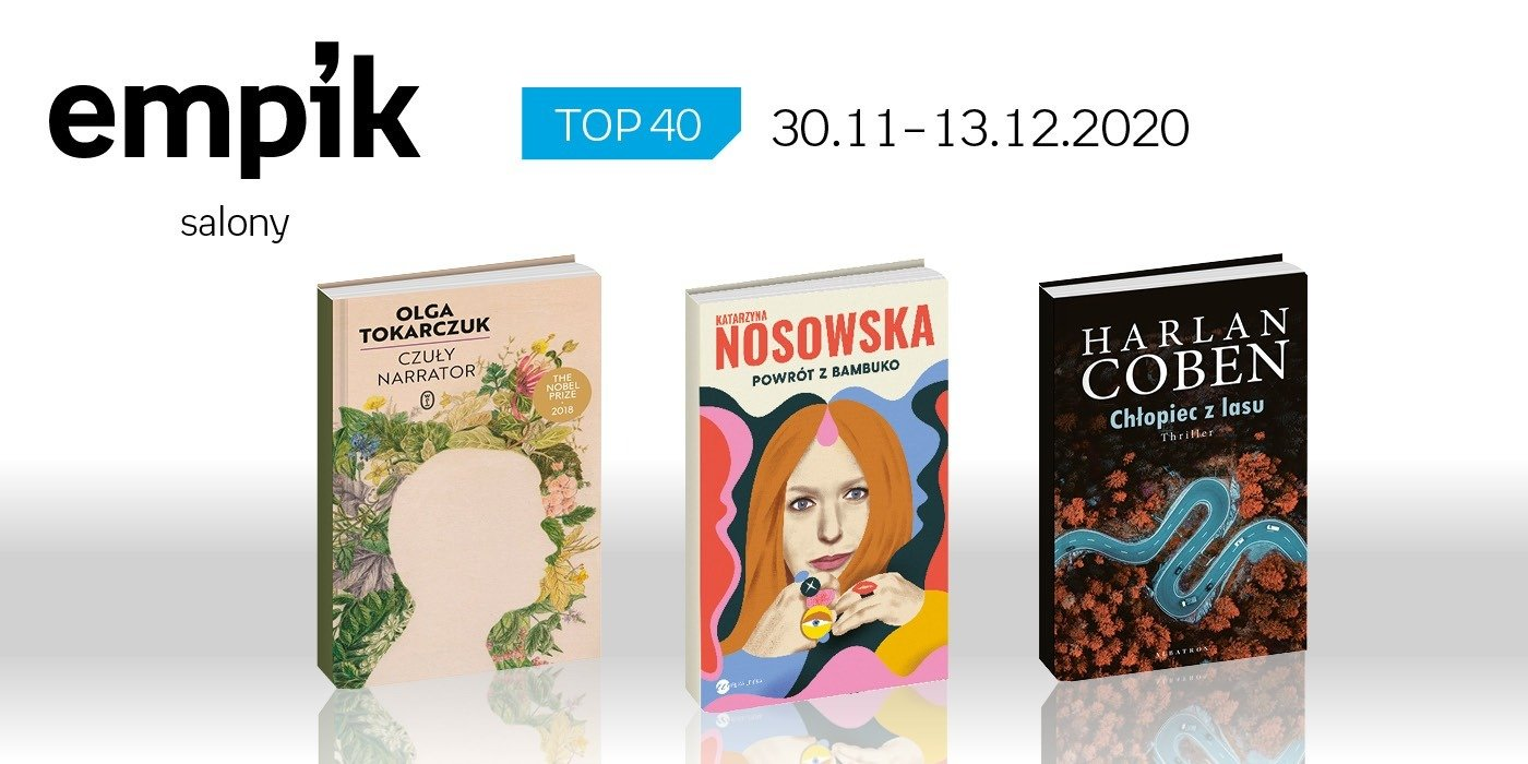 Książkowa lista TOP 40 w salonach Empik za okres 30 listopada -13 grudnia
