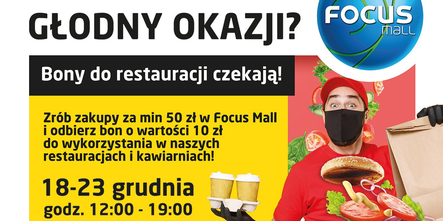 Bony do restauracji za zakupy w Focus Mall