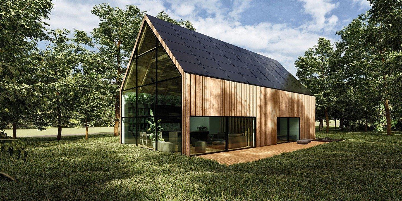 """Wooden Eco-House in the Forest - projekt niezwykłego domu inspirowanego ekologiczną Skandynawią zwyciężył w międzynarodowym konkursie architektonicznym """"Dom Przyszłości. Najlepszy projekt SunRoof 2020"""""""