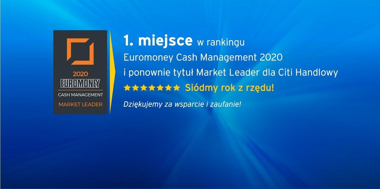 Citi Handlowy siódmy raz liderem rynku Cash Management w Polsce