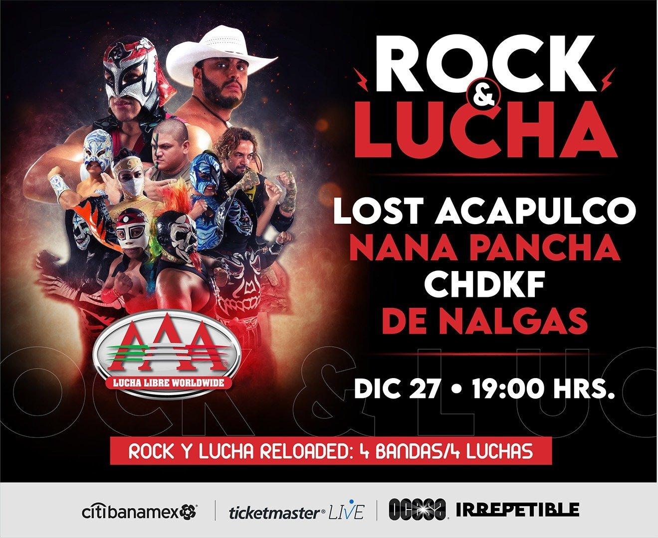 Invitación Conferencia de Prensa Virtual Rock y Lucha Reloaded