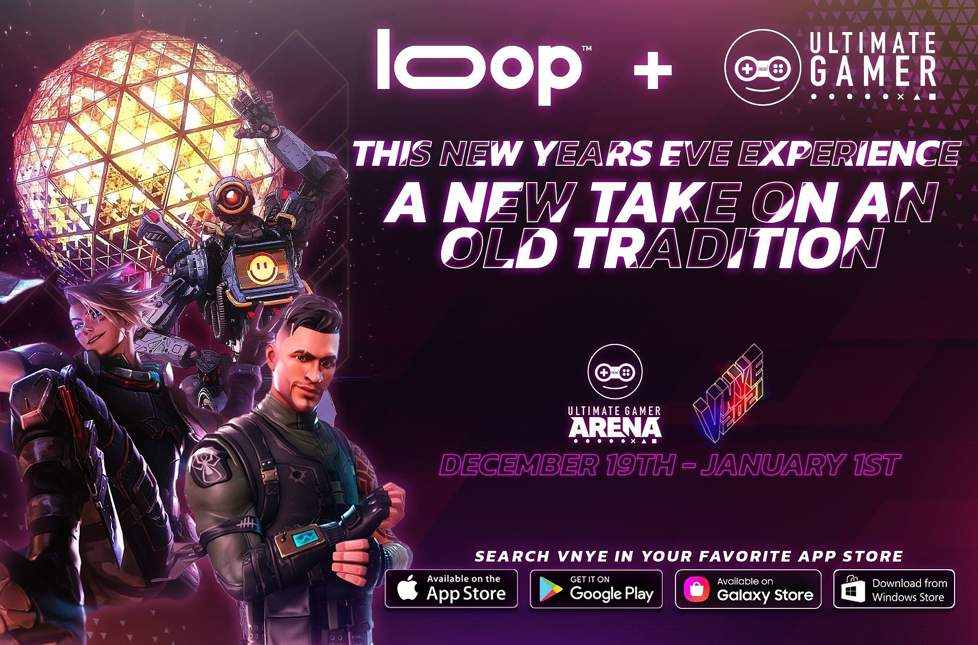 Loop Media, Inc. and Ultimate Gamer Ring in the New Year with Times Square Virtual New Year's Eve Celebration