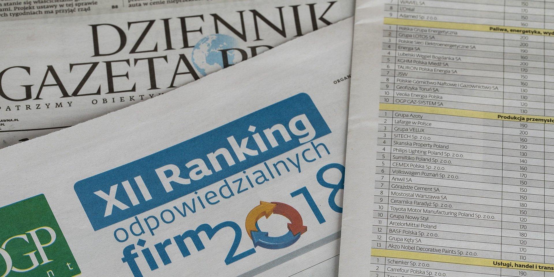 """Ceramika Paradyż wyróżniona w """"Rankingu Odpowiedzialnych Firm 2018"""""""