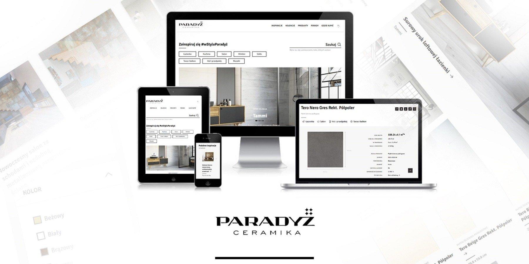 Ceramika Paradyż z nową stroną internetową